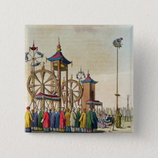 A Chinese circus, illustration from 'Le Costume An 15 Cm Square Badge