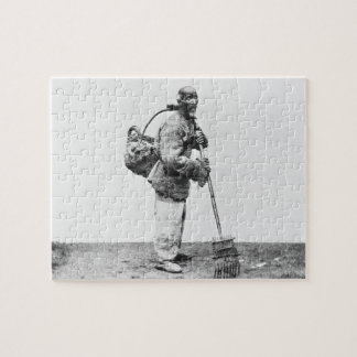 A Chinese day labourer, c.1870 (b/w photo) Jigsaw Puzzle