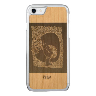 A Chinese girl falling in love with butterfly Carved iPhone 7 Case