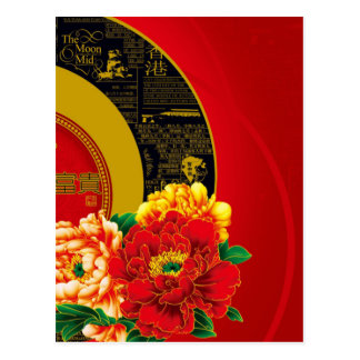 A Chinese ornament of good luck and prosperity Postcard