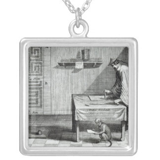 A Chinese Scribe Silver Plated Necklace