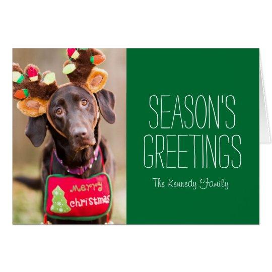 A Chocolate Labrador Retriever dog Card