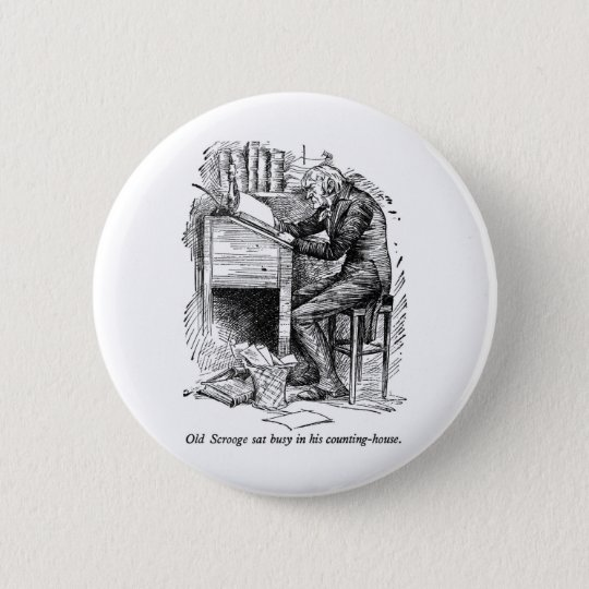 A Christmas Carol 6 Cm Round Badge