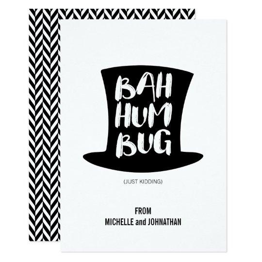 A Christmas Carol Bah Humbug Holiday Card