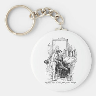 A Christmas Carol Basic Round Button Key Ring