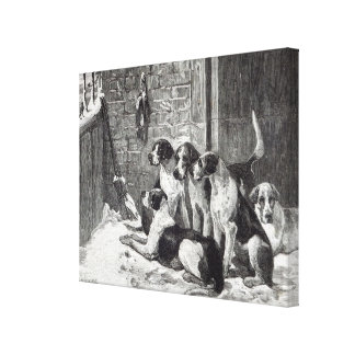 A Christmas Carol from Leisure Hour 1888 Canvas Prints