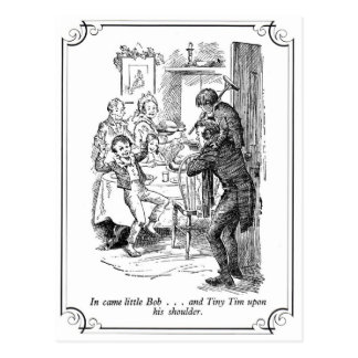 A Christmas Carol: Little Bob & Tiny Tim Postcard
