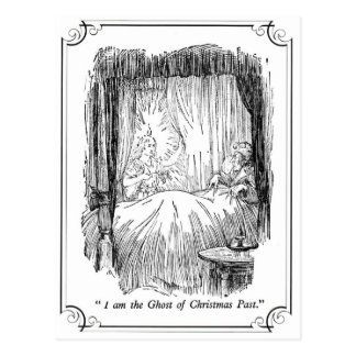 A Christmas Carol: The Ghost of Christmas Past Postcard