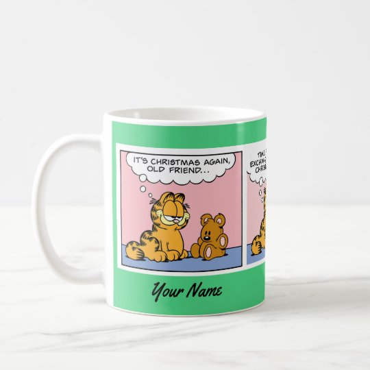 """""""A Christmas Gift"""" Garfield Comic Strip Mug"""