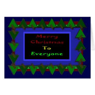 A Christmas Greeting Greeting Card