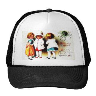 A christmas greeting, three standing cap