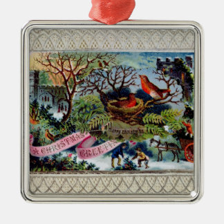 A Christmas Greeting, Victorian postcard Christmas Ornament