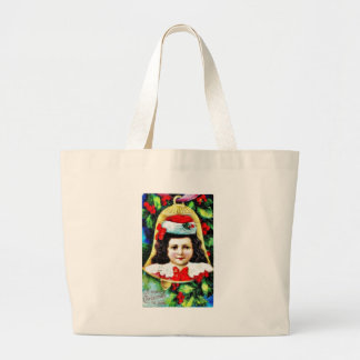 A christmas greeting with a child photo in the bel tote bags