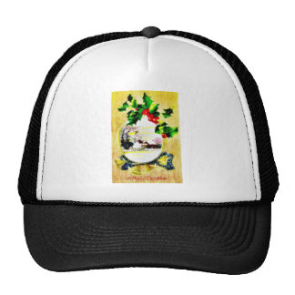 A christmas greeting with a sceneray trucker hat
