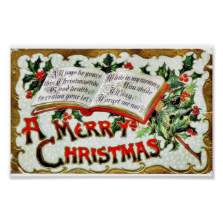 A christmas greeting with bible words poster