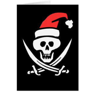 A Christmas Pirate Note Card
