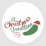A Christmas Tradition Round Sticker