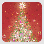A Christmas tree that glows. Square Sticker