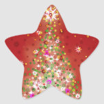 A Christmas tree that glows. Star Sticker