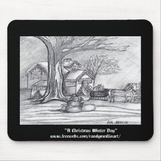 A Christmas Winter Day Mouse Mat
