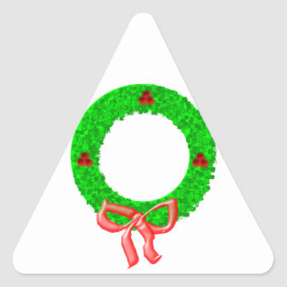 A Christmas Wreath with Berries and a Bow Sticker