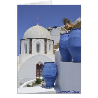 A church in Santorini, Greece Card