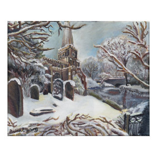 A Church in Winter Poster