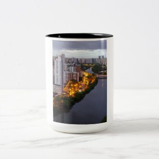 A_Cidade_e_o_Rio BRAZIL Two-Tone Mug