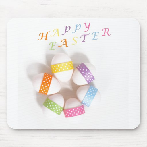 A Circle of Decorated Easter Eggs Mousepad
