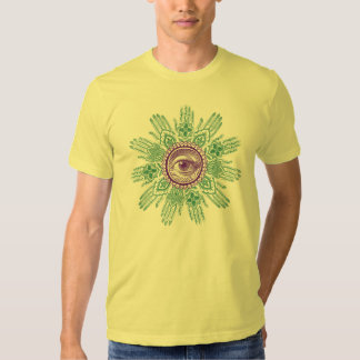 A circle of hands and an Eye T Shirts