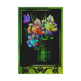 A City in Bloom Gallery Wrapped Gloss Canvas Stretched Canvas Print