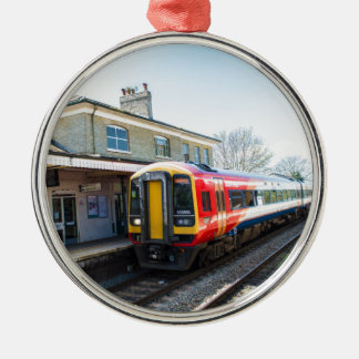 A Class 158, Romsey Station Silver-Colored Round Decoration