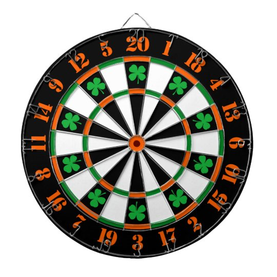 A Classic Game of Darts Shamrocks Irish Colours