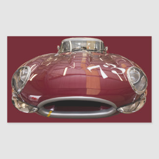 A classic Jaguar E-Type from 1961 Rectangular Sticker