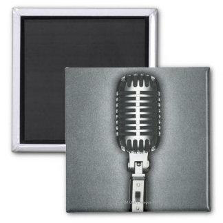 A Classic microphone Square Magnet