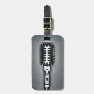 A Classic microphone Travel Bag Tags
