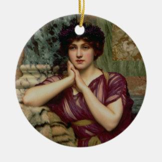 A Classical Beauty, 1901 (oil on canvas) Christmas Ornament