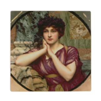 A Classical Beauty, 1901 (oil on canvas) Wood Coaster