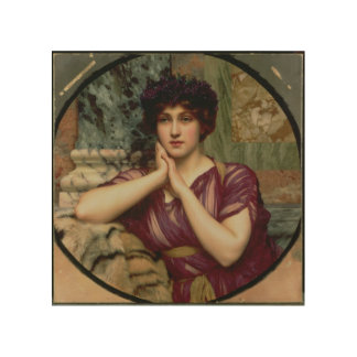 A Classical Beauty, 1901 (oil on canvas) Wood Print