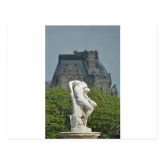 A classical marble statue in Paris Postcard