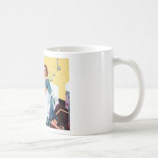 A clean house basic white mug
