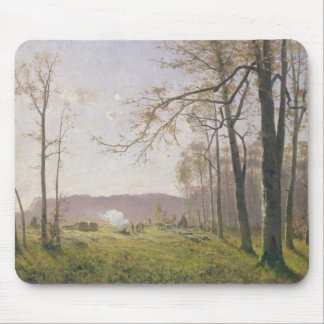 A Clearing in an Autumnal Wood, 1890 Mouse Pad