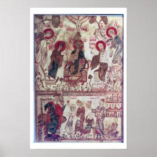 A Clinic, Byzantine Treaty, 14th century (vellum) Poster