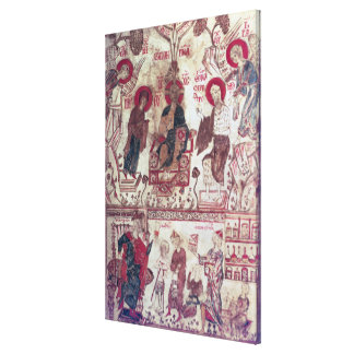 A Clinic, Byzantine Treaty, 14th century (vellum) Stretched Canvas Print