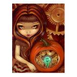 """""""A Clockwork Pumpkin"""" Postcard"""