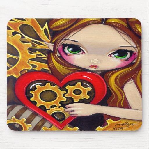 """A Clockwork Valentine"" Mousepad"