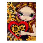 """A Clockwork Valentine"" Postcard"