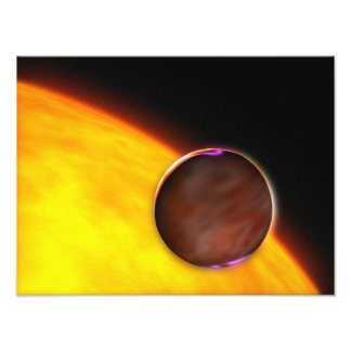 A close-up of an extrasolar planet photo print