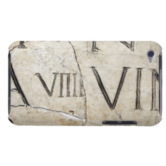 A close-up of ancient Roman letters on marble. Barely There iPod Cases