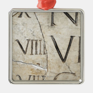 A close-up of ancient Roman letters on marble. Christmas Ornament